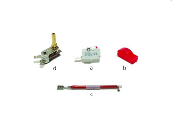Termostat, microintrerupator si scufier pentru fier TULIPANO